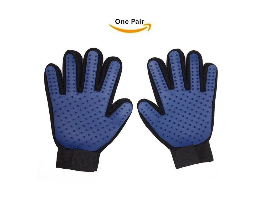Pet Grooming Glove - Hair Remover Glove Gentle Deshedding Brush Glove Deshedding Glove Perfect for Dogs & Cats with Long & Short Fur(1 Pair)