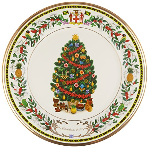 Poinsettia Accent Plate (Lenox 2013 Trees Around The World Jamaica Decorative Plate)