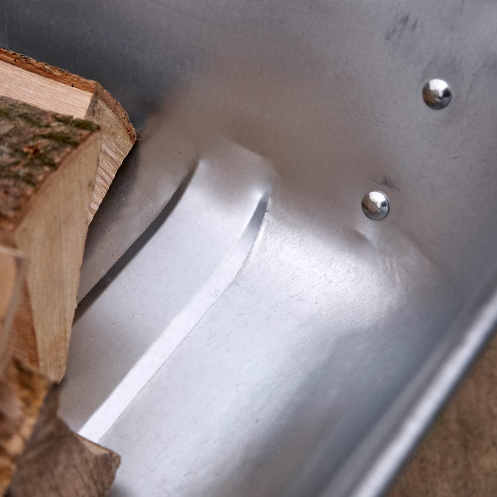 kingfisher 65L carriola in Metallo zincato