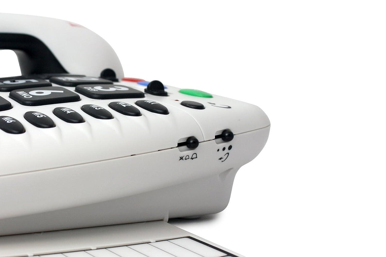f/ácil instalaci/ón visuales Geemarc CL 100 Tel/éfono para personas mayores con problemas de audici/ón