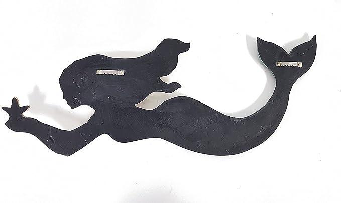 Amazon Com Toysdone Swimming Mermaid Resin Wall Decor Home Kitchen