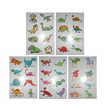 Toyvian 30 Hojas de Dinosaurio de Dibujos Animados Pegatinas ...