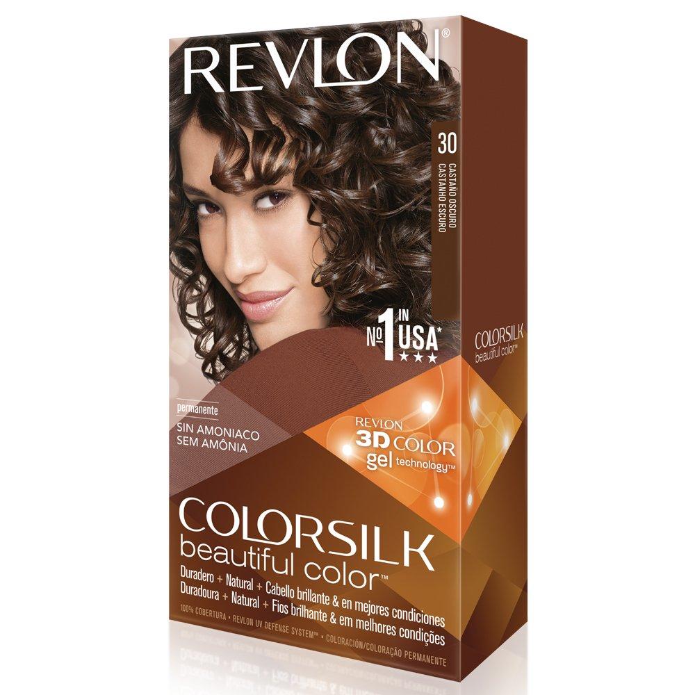 Amazon.com : Revlon ColorSilk Permanent Color, Dark Brown 30 ...