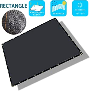 Liveinu Sun Shade Sails Shade Cloth Taped Edge with Grommets Rectangle Sun Shade Sail UV Block Patio Awnings Privacy Screen Net for Patio Garden Outdoor Backyard 6.5'x9.8' ft Black