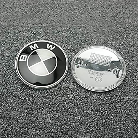 7pcs BMW black and white emblem,BMW Wheel Center Caps Hub CapsX4,bmw Emblem Logo Replacement for Hood//Trunk,BMW Steering Wheel Emblem Decal fit Black 7pcs 2