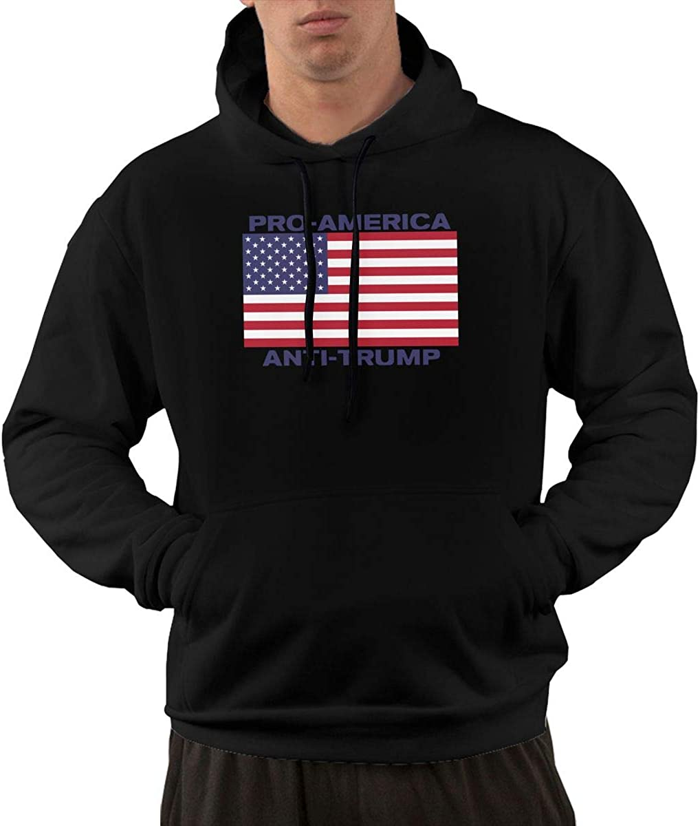 Mens Pro America Anti-Trump Hooded Fleece Sweatshirt