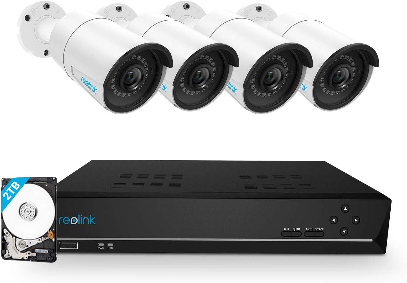 Reolink 8 Canaux 5MP Kit Caméra Surveillance PoE avec 4X Caméras IP...
