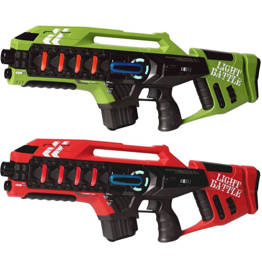 tienda en linea Light Battle 2X Anti-Cheat Mega-Blaster - Lazer Tag Pistola verde verde verde y Rojo - LBAPG10212  comprar descuentos