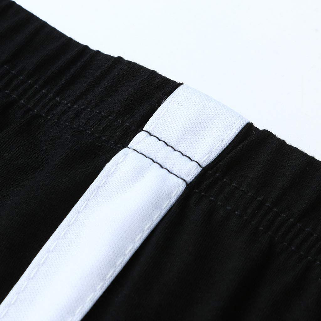 Womens Casual Yoga Sweat Pants Side Striped Tight Lightweight Breathable Capris Fitness Leggings Tummy Control Trousers