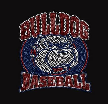 foto de Amazon.com: Large Baseball Bulldog Rhinestone Iron on Transfer