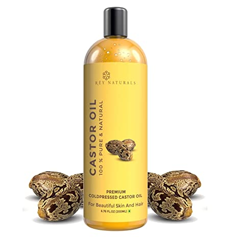 Buy Rey Naturals Cold Pressed Castor Oil, 200ml Online at Low Prices
