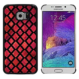 TopCaseStore / la caja del caucho duro de la cubierta de protección de la piel - God Church Dark Red Black - Samsung Galaxy S6 EDGE SM-G925