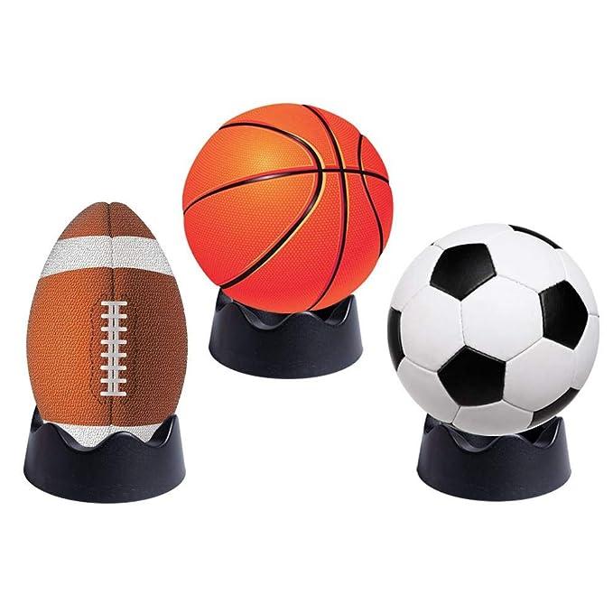SHOH Soporte para balones de fútbol, Baloncesto, Voleibol, Rugby ...