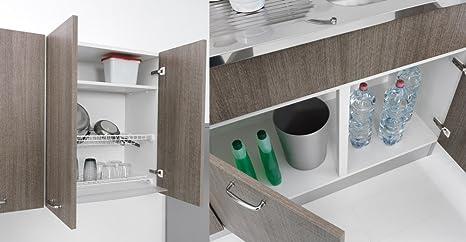 Mueble para fregadero de cocina, de 120 x 50 cm, con doble ...