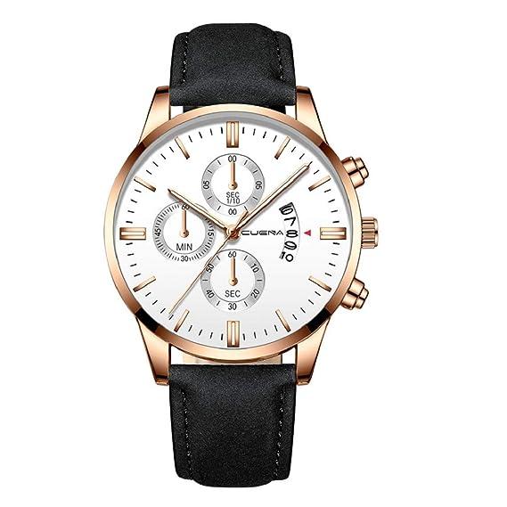 Luckycat Mens Relojes Cronógrafo Analógico Cuarzo Reloj ...