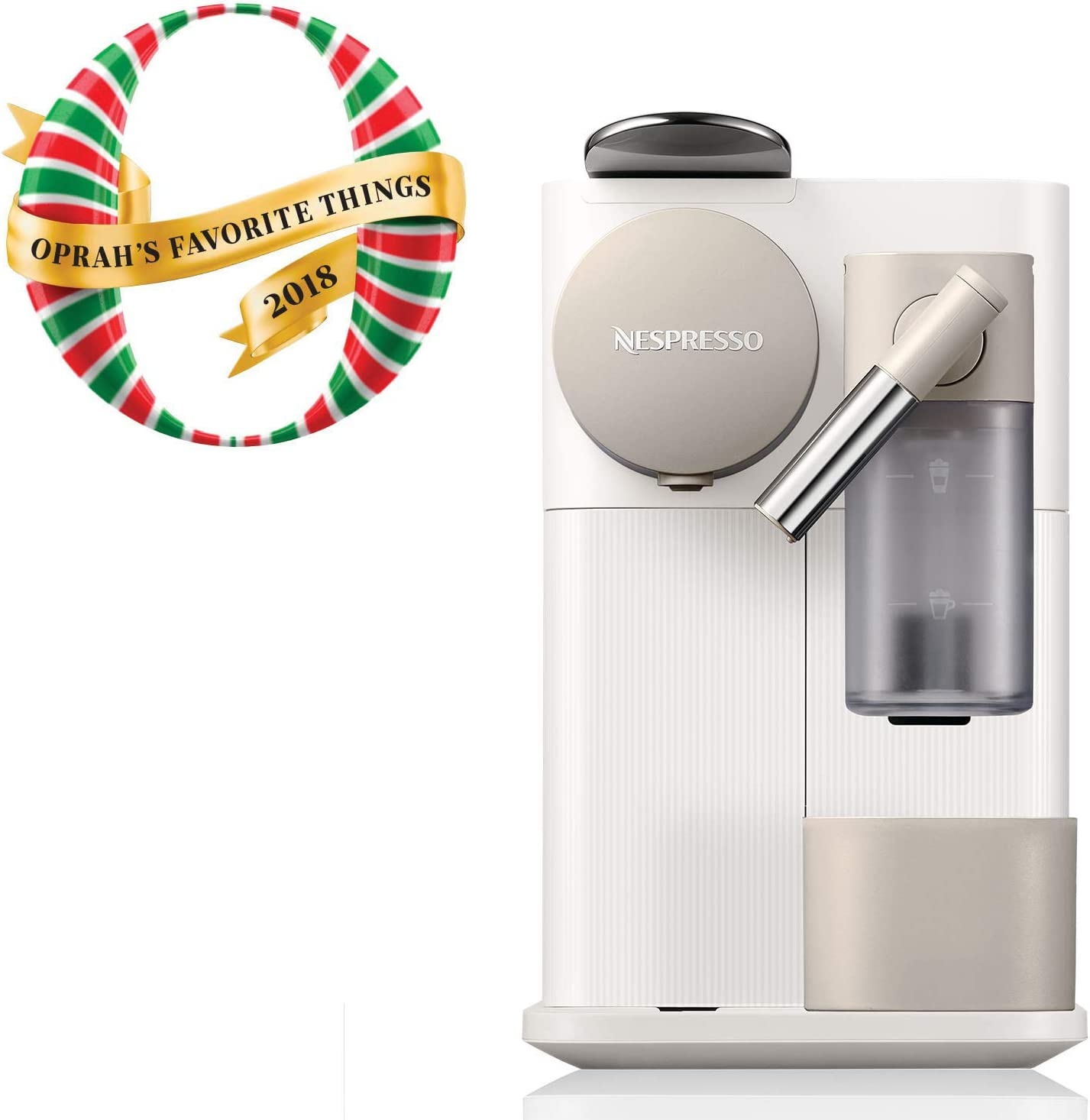 Nespresso by DeLonghi EN500W Lattissima One Original Espresso Machine with Milk Frotherby DeLonghi, Silky White