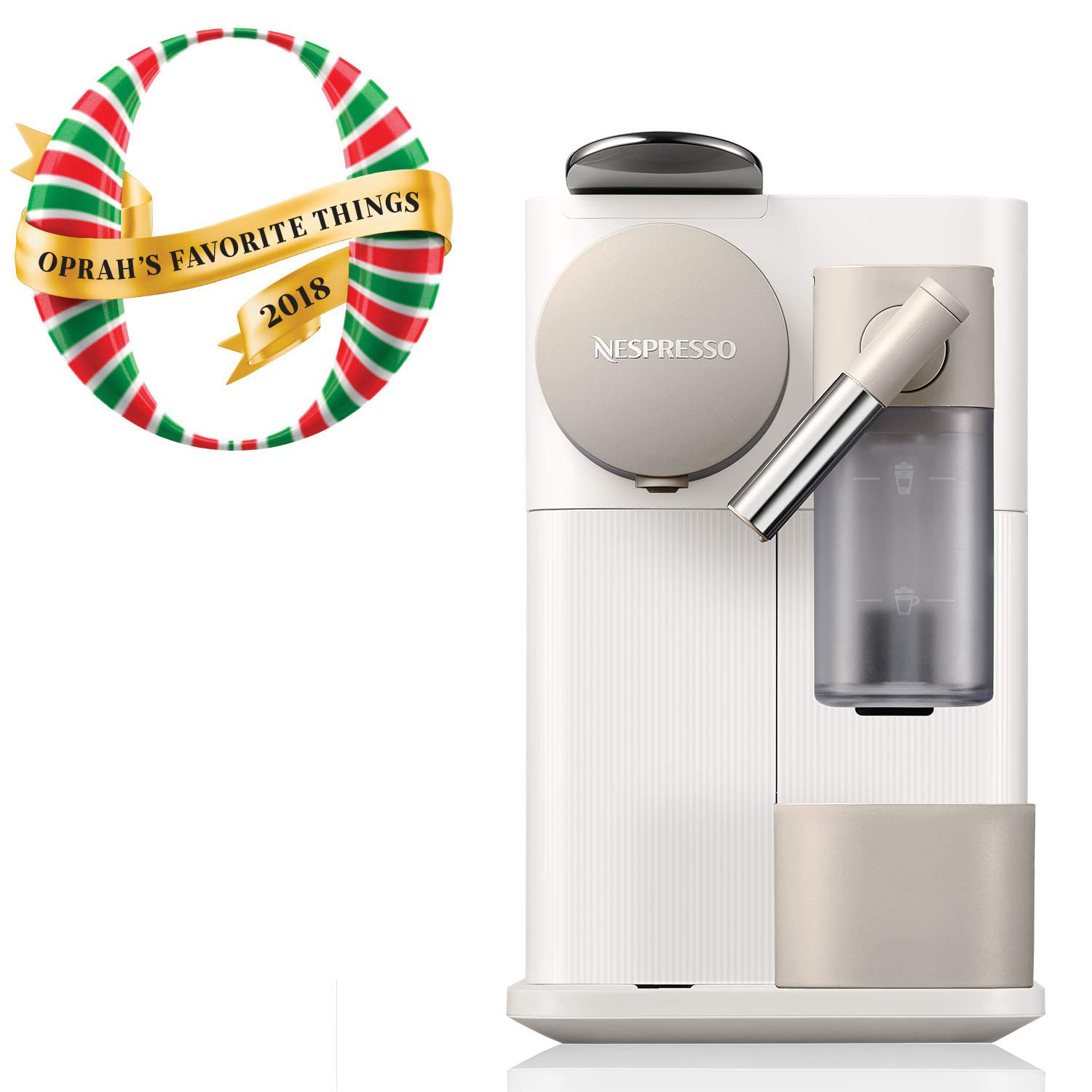 Nespresso by De'Longhi EN500W Lattissima One Original Espresso Machine with Milk Frotherby De'Longhi, Silky White by Nespresso by De'Longhi
