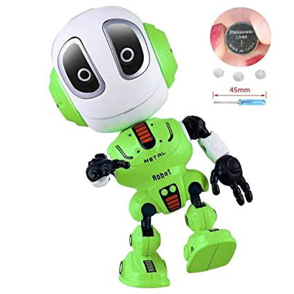Blossm Robot Toy for Kids Talking Robot Toys Repeats Your Voice, Colorful  Flashing Lights and Cool Sounds Robot Mini Robot Travel Toy for Kids Boys