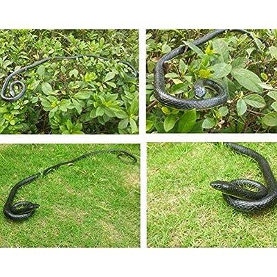Leoie Fake Realistic Snake Lifelike Real Scary Rubber Toy Prank Party Joke Halloween: Toys & Games