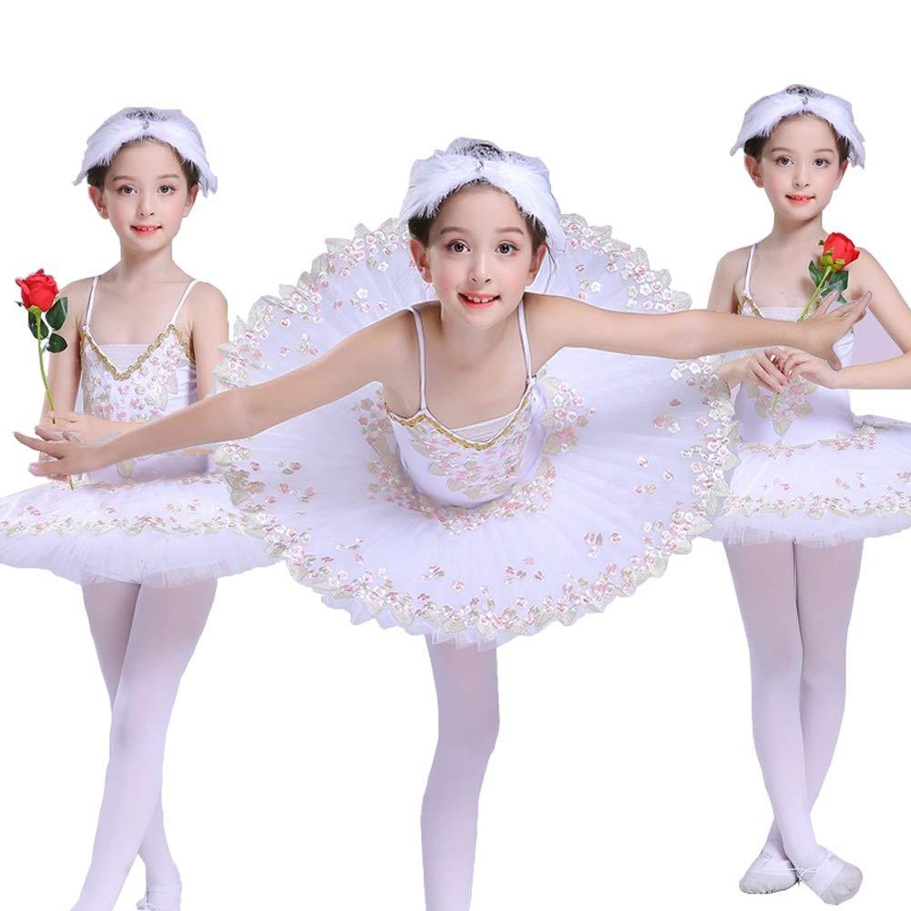 Blanc 165cm YONGMEI Jupe de Ballet Sling Dance Peu Swan pour Enfants, lac des cygnes Tutu (Couleur   rouge, Taille   110cm)