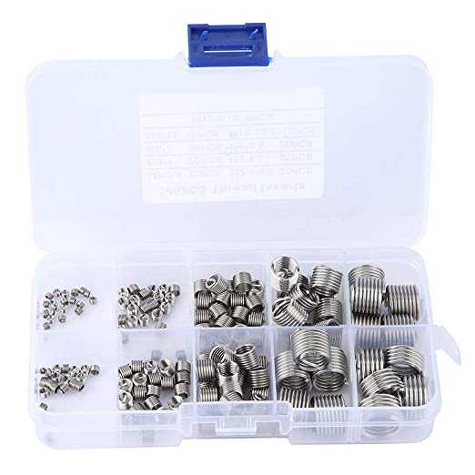 105pcs Threaded Inserts Repair Kit Stainless Steel Helicoil Type Wire Insert Installation Set M3 x 0.5