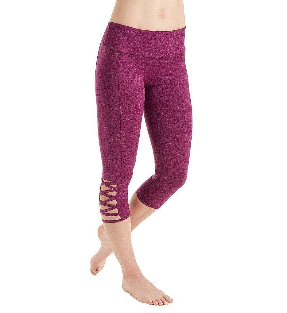 Onzie Weave Criss-Cross Detail Capri Legging (289) M/L/Magenta Majestic