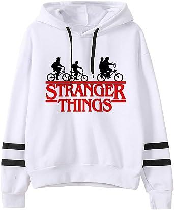 JIJUEMIU Sudadera con Capucha Stranger Things Friends Dont Lie Sudaderas con Capucha Algod/ón Casual Manga Larga Pullover