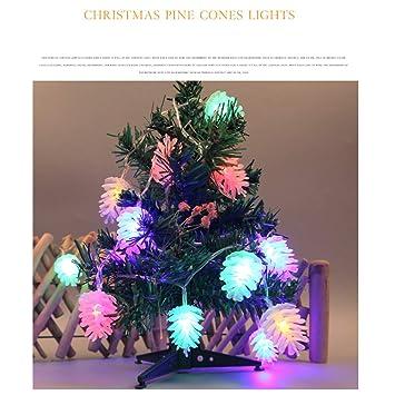 colorful christmas lights pinecone lights warm white led christmas tree lights pine nuts decoration fairy lights