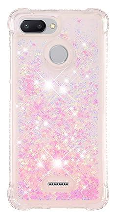Amazon.com: SHUNDA - Funda para Xiaomi Redmi 6 con purpurina ...
