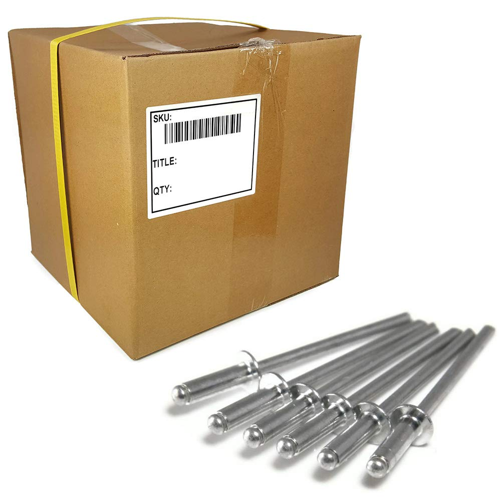 Aluminum Pop Rivets 1/4in Diameter (#8) Blind Rivet Bulk Box - 2,000 pieces (8-8, 1/4 x 0.750 Grip (0.376-0.500))