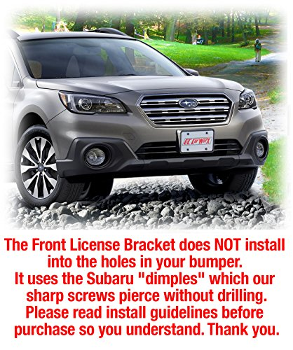 C&C Car Worx OW-15-FP Front License Plate Frame Bracket Mount to fit 2015, 2016, 2017 Subaru Outback WAGON
