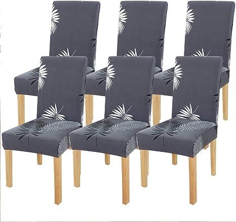 6er Stuhlhussen Stuhlüberzug Stuhlbezug Universell Hussen Hochzeit Weich Party
