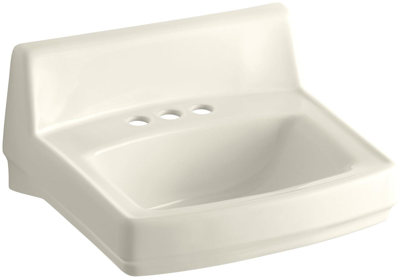 KOHLER K 2032 0 Greenwich Wall Mount Bathroom Sink, White   Wall Mounted  Sinks   Amazon.com