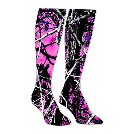 3fef38441 Muddy Girl Camo Pink Athletic Socks Knee High Socks For Men Women Tube Long  Stockings Casual Socks