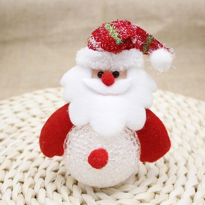 Tinksky ornamentos de navidad Papá Noel Muñeco de nieve de ...