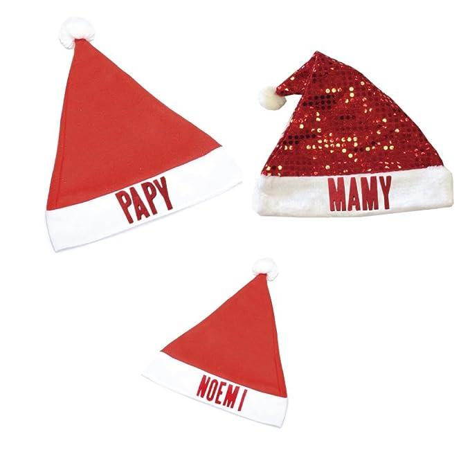 3 Cappelli Babbo Natale Personalizzati per Tutta la Famiglia. nel Pack Ci  Sono 2 Cappelli 4343be428ea4