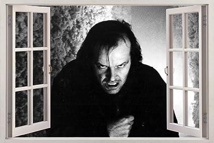 4f976e0bfbcf Amazon.com  The Shining Jack Nicholson 3D Window Decal Wall Sticker ...