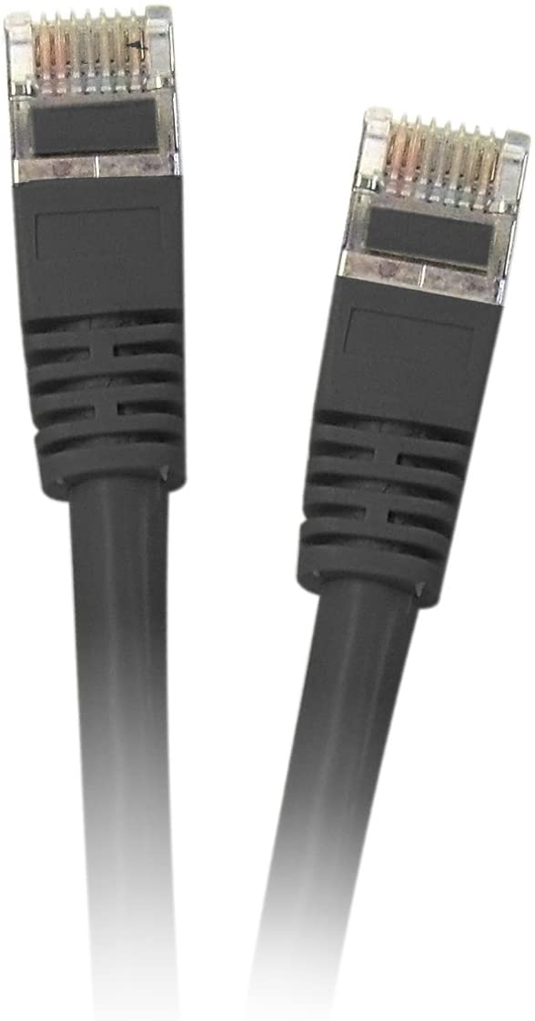 Shielded Cat5e 25-Foot Black Ethernet Cable Snagless//Molded Boot CNE42388