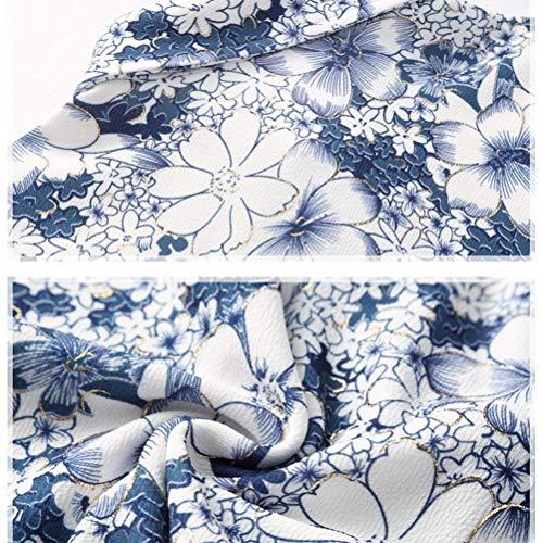 Longues Eve Manches Slim Bleu Floral Christmas Bobolily Fleur Coupe Noël Chemise Imprimé De zw5HTTnSAq
