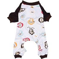 Wiwsi Pet Dogs Pjs Warm Winter Puppy Clothes Jumpsuit Sleepwear Apparel Jacket(M,Monkey)