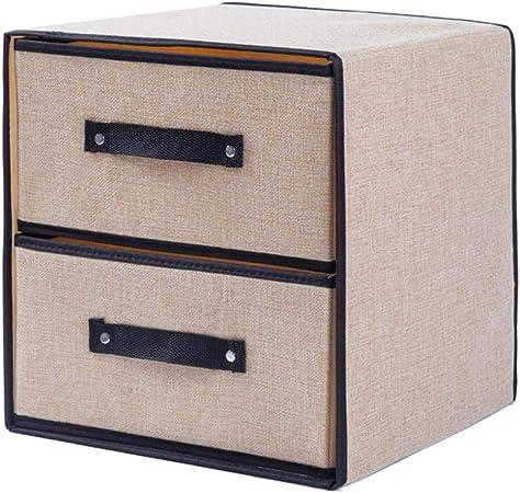 Cajas de almacenaje Cajas y arcones de almacenaje Caja de almacenamiento plegable para ropa Ropa interior de ropa Caja de almacenamiento Caja de almacenamiento de cajones de tela de poliéster Conte: Amazon.es: