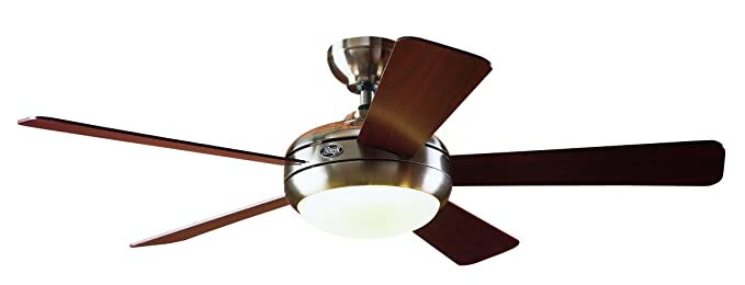 Hunter 21617 palermo 52 inch brushed nickel ceiling fan with 5 maple hunter 21617 palermo 52 inch brushed nickel ceiling fan with 5 maplecherry aloadofball Gallery