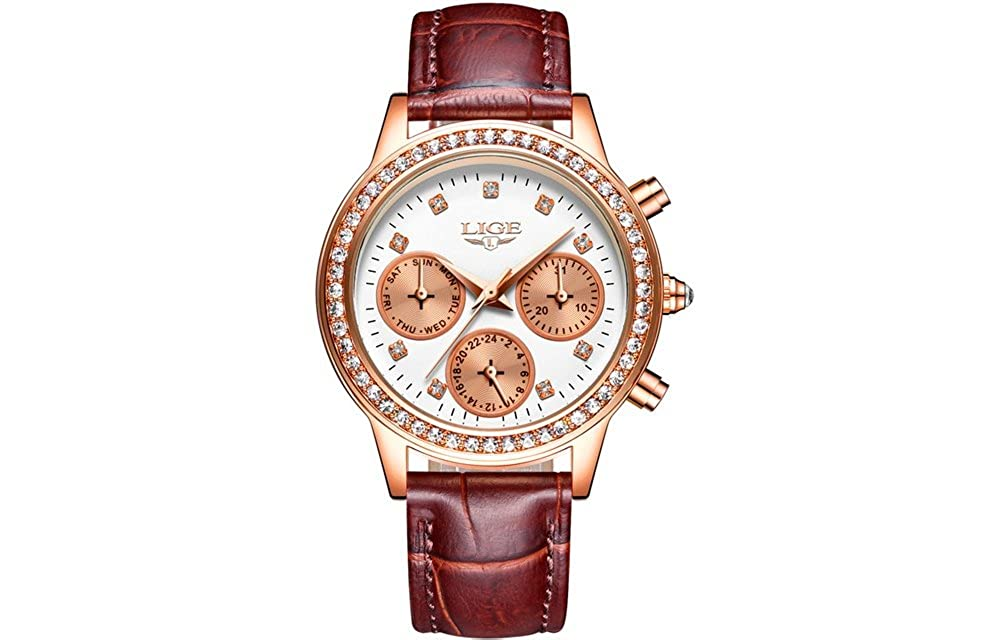 Amazon.com: Reloj De Mujer Quartz Watch Fashion Casual Luxury Relogio Feminino para Damas RE0097: Watches