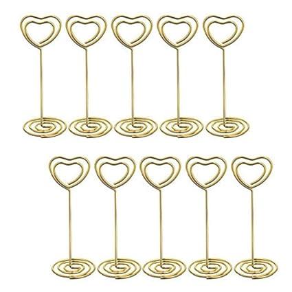Herz Form Tischkartenhalter 10 Stück Von Visitenkarten