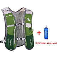 Chaleco mochila multifunción AONIJIE de 5l, ideal para deportes al aire libre, acampadas, ciclismo, carreras, alpinismo o senderismo, incluye 1 botella de agua de 500ml