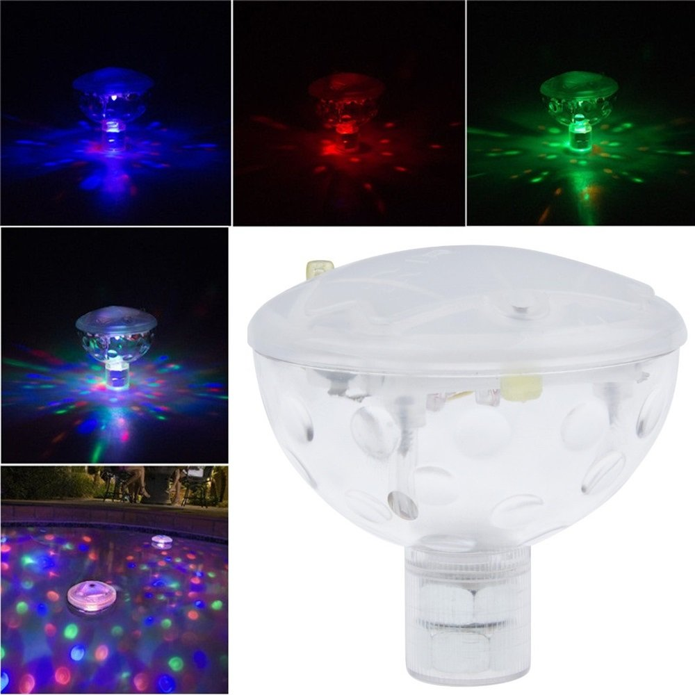 Gold Happy AAA Battery Powered LED Underwater Fountain Light Bathtub Light Disco Spa Swimming Pool Float lamp Pond Fish Tank Aquarium Light