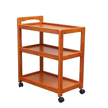 Carros de servicio Carrito de té/coche de comedor de hotel/Carro de servicio/muebles de madera maciza rack de dispositivo de grupo sólido rueda universal ...