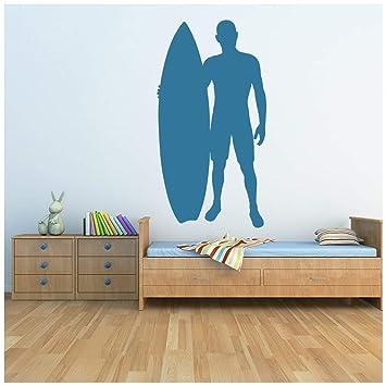 azutura Tablista Vinilos Tabla de Surf Deportes Pegatina Decorativos Pared Niños Dormitorio Surf Decoración del hogar