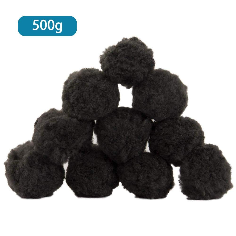 Dreamseeker Black Filter Balls 700g / 200g / 500g for Sand Filter Pool Filter Balls Fiber Filter Media for Swimming Pool, Aquarium by Dreamseeker