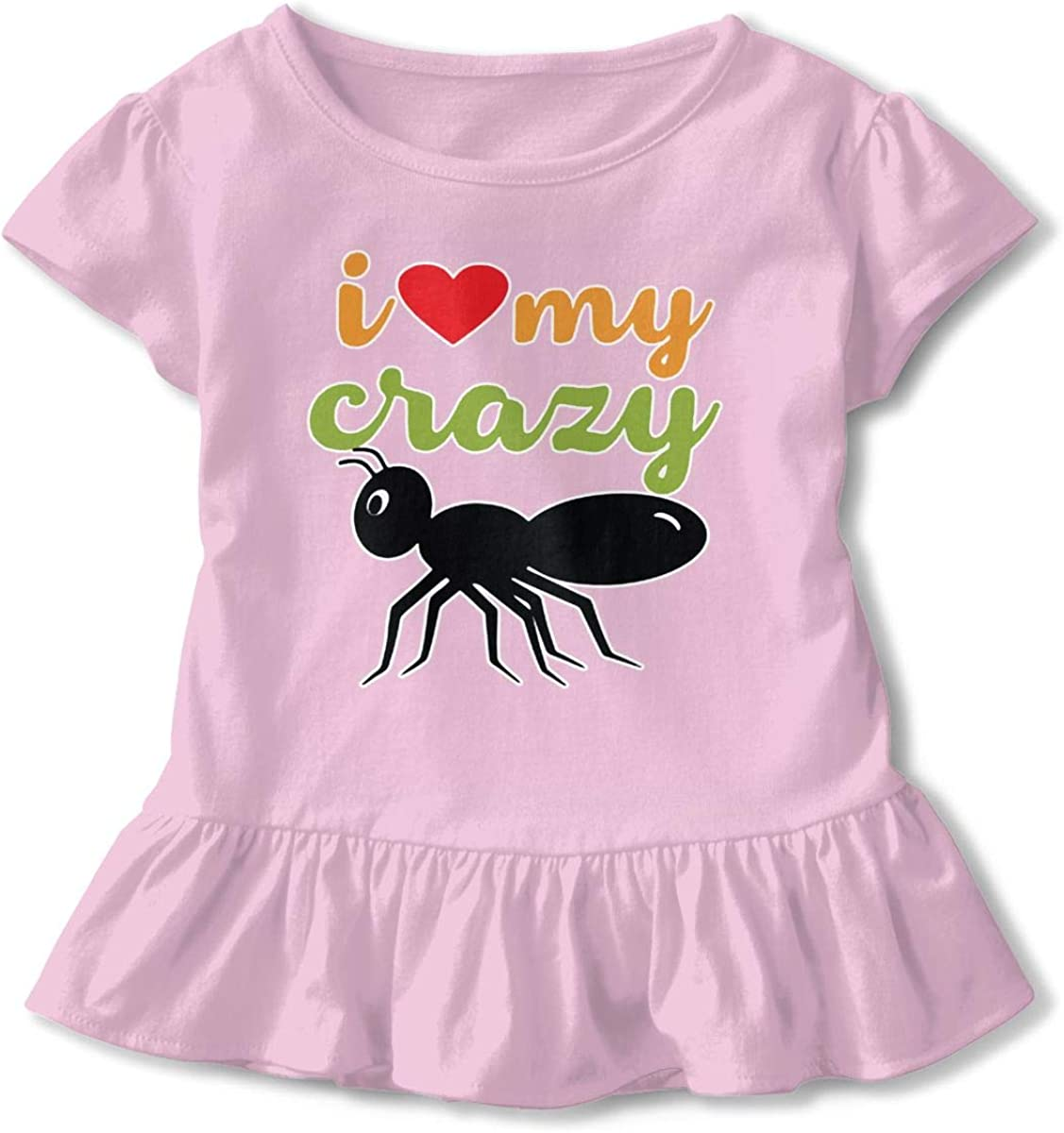 I Love My Crazy Aunt Baby Skirts Lovely Kids T Shirt Dress Cotton Flounces Outfits